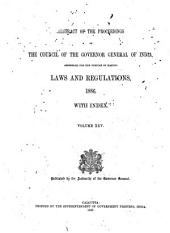 Abstract of the Proceedings of the Council of the Governor-General of India Assembled for the Purpose of Making Laws and Regulations: Volume 25