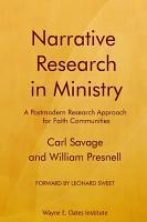 Narrative Research in Ministry PDF