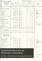 Gemeindelexikon der im Reichsrate vertretenen Königreiche und Länder: Bearb. auf Grund der Ergebnisse der Volkszählung vom 31. Dezember 1900, Band 6