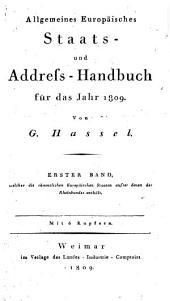 Allgemeines Staats- und Adress-Handbuch für 1809
