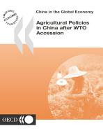 China in the Global Economy Agricultural Policies in China after WTO Accession PDF