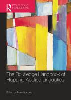 The Routledge Handbook of Hispanic Applied Linguistics PDF