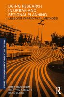 Doing Research in Urban and Regional Planning PDF