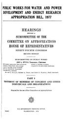Public Works for Water and Power Development and Energy Research Appropriation Bill  1977 PDF
