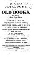 Second Part of Davies s Catalogue of Old Books  etc PDF