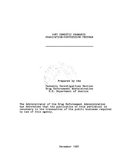 Domestic Cannabis Eradication suppression Program PDF