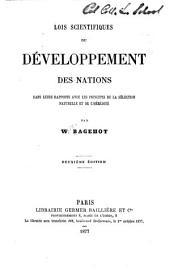 Lois scientifiques du développement des nations dans leurs rapports avec les principes de la sélection naturelle et de l'hérédité