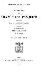 Mémoires du Chancelier Pasquier: 1824-1830
