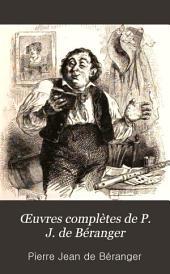 Œuvres complètes de P. J. de Béranger: Volume3