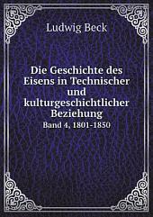 Die Geschichte des Eisens in Technischer und kulturgeschichtlicher Beziehung: Teil 1
