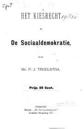 Het kiesrecht en de sociaaldemokratie