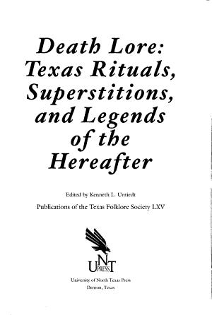 Publications of the Texas Folk lore Society PDF
