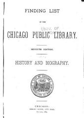 Finding List of the Chicago Public Library: Parts 1-4
