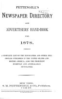 Pettengill's Newspaper Directory and Advertisers' Hand-book
