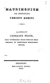 Matrimonium ex instituto Christi domini