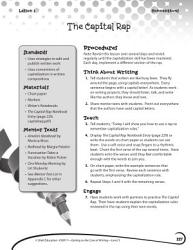 Writing Lesson Level 3 The Capital Letter Rap Book PDF