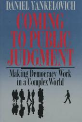 Coming to Public Judgment: Making Democracy Work in a Complex World