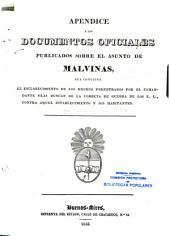 Apendice à los documentos oficiales publicados sobre el asunto de Malvinas