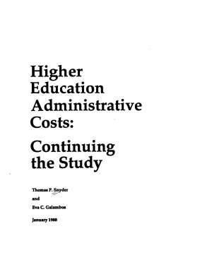 Higher Education Administrative Costs
