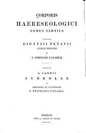 Corporis haereseologici: Volume 3