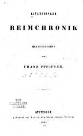 Livländische reimchronik: Ausgabe 7,Teil 2