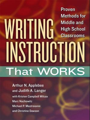 Writing Instruction That Works PDF