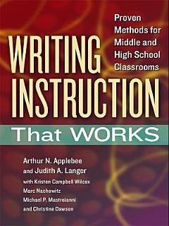 Writing Instruction That Works Book