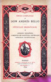 Obras completas de Don Andrés Bello...