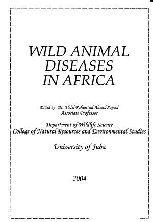 Wild Animal Diseases in Africa PDF