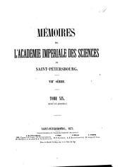 Mémoires de l'Académie impériale des sciences de Saint-Pétersbourg: Volume19