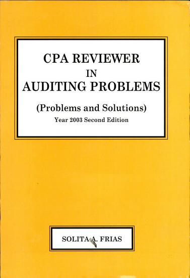 Cpa Reviewer in Auditing Problems PDF