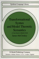 Transformational Syntax and Model Theoretic Semantics