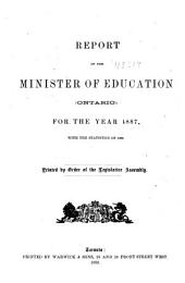 Report of the Minister of Education ...