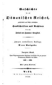 Geschichte des osmanischen Reiches: Bd. 1520-1623