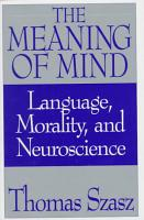 The Meaning of Mind PDF