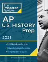 Princeton Review AP U S  History Prep  2021 PDF