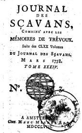 Journal des sçavans, combiné avec les Mémoires de Trevoux: Suite des CLXX volumes du Journal des sçavans, Volume40