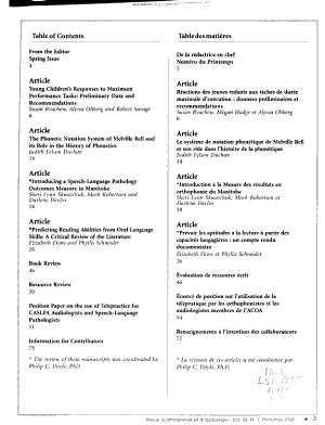Journal of Speech language Pathology and Audiology PDF