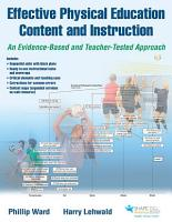 Effective Physical Education Content and Instruction PDF