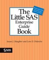 The Little SAS Enterprise Guide Book PDF