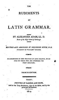 The Rudiments of Latin Grammar