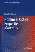 Nonlinear Optical Properties of Materials PDF
