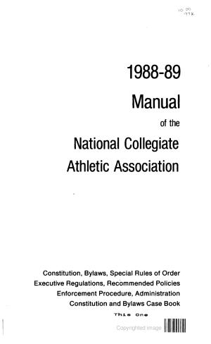 NCAA Manual PDF