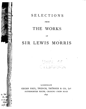 Selections from the Works of Sir Lewis Morris PDF