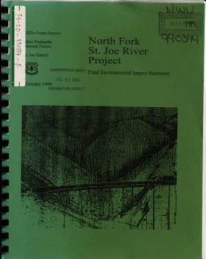 Idaho Panhandle National Forests  N F    North Fork St  Joe River Project  Shoshone County