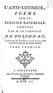 L'anti-Lucrece, poëme sur la religion naturelle,