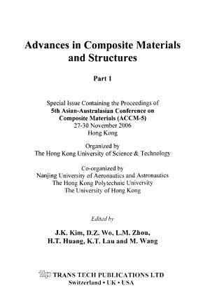 Advances in Composite Materials and Structures PDF