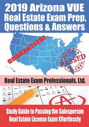 2019 Arizona VUE Real Estate Exam Prep Questions and Answers PDF
