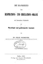 Lehrbuch der speciellen Pathologie und Therapie mit besonderer Rucksicht auf Physiologie und pathologische Anatomie: Band 1