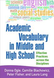 Academic Vocabulary in Middle and High School PDF